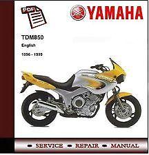 YAMAHA TDM850 1996,1997,1999 CD Workshop Service Repair Manual