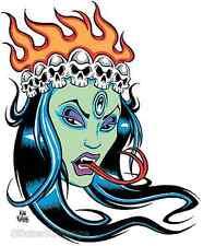 Green Kali STICKER Decal Poster Artist Alan Forbes AF22