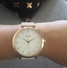 Kohë Rose Gold With Peach Leather Women's Watch The Simple Stylish 5th Horse