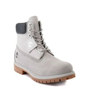 """NEW Mens Timberland 6"""" Classic Color-Block Boot Gray Light Gray"""