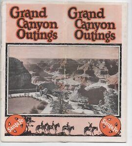 "1920s Santa Fe Railroad Advertising Brochure "" Grand Canyon Outings """