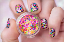1mm-2mm Mixed Nail Art Glitter Decoration Colorful Mini Round Thin Paillette