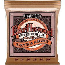 10 Pack! Ernie Ball 2150 Earthwood Ext LT Phosphor Bronze Strings Ships FREE U.S