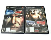 WWE Smackdown Vs. Raw 2004 & 2010 Sony PlayStation 2 PS2 Game Lot Tested