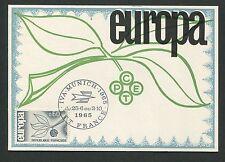 FRANCE MK 1965 EUROPA CEPT IVA MUNICH MAXIMUMKARTE CARTE MAXIMUM CARD MC d5318