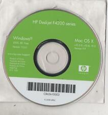 CD SOFTWARE PER HP DESKJET F4200 SERIES - WINDOES E MAC - 2008 HPDC