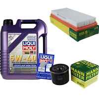 Inspektionspaket 5L Liqui Moly LL High Tech 5W-40 + MANN Luftfilter Ölfilter