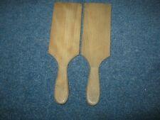 2 Vintage Wooden Butter Pats,Kitchenalia/Treen.