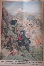 REPORTERS GUERRE CAMERA de CINÉMA FILMS  GRAVURE LE PETIT JOURNAL 1912
