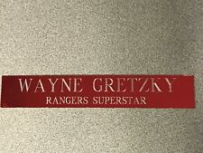 WAYNE GRETZKY ( RANGERS SUPERSTAR) 1X6 NAMEPLATE /PHOTO /JERSEY