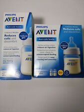 PHILIPS AVENT ANTI-COLIC BOTTLE 1mo.+ 9 oz & 4oz. Wide...