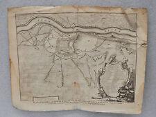 IMPORTANTE MAPA DE LLEIDA DEL AÑO 1707