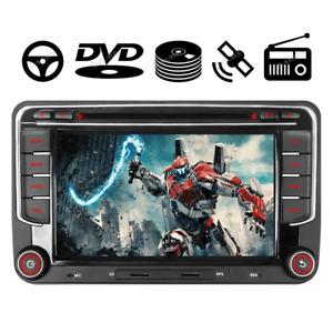 2 DIN Autoradio GPS NAVI CD DVD DAB+ FM AM für VW Golf Passat B6 3C Touran Skoda
