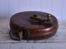 c 1944 Army, John Rabone & Sons England 50ft Leather Cased Tape Measure VGC