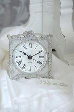 Clayre & Eef Uhr Clock Standuhr Kaminuhr eckig Shabby Vintage Landhaus
