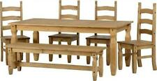 Pine Dining Tables Sets with 6 Pieces
