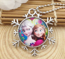 Hot FROZEN PENDANT Silver Plated CHAIN NECKLACE ROYAL PRINCESS Y5
