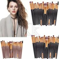 20/7PCS Make up Brushes Set Foundation Eyeshadow Eyeliner Powder Kabuki Style