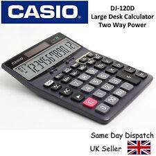 CASIO DJ120D + LARGE DESKTOP CALCULATOR - 12 digit display, 150 step recheck