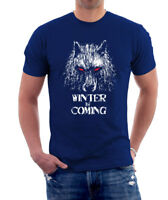 WINTER IS COMING Unisex  T- Shirt Top Game of Thrones Stark Wolf Gift S - XL
