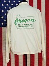 Rare VTG Pla-Jac Dunbrooke 44-46 L Made USA Oregon Jazz Band Whte Zip Jacket OR