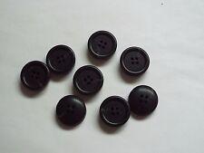 8pc 23 mm Matt nero e grigio Linea Pesante Cappotto Tuta Cardigan maglieria pulsante 5142