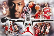 MICHAEL JORDAN 24X36 POSTER BASKETBALL ICONIC OLDSCHOOL COOL PLAYER LEGEND COOL!