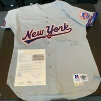 Eddie Murray Signed 1993 New York Mets Game Used Jersey With JSA COA