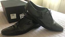 Christian Dior Men's classic black patent leather shoes size Eu 44  Uk 10