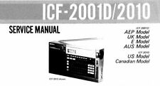 SONY ICF-2001D ICF-2010 SERVICE MANUAL BOOK INC SCHEM ENGLISH PLL SYNTH RECEIVER