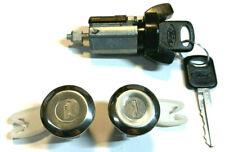 Ford Ignition Switch Lock Cylinder + Pair (2) Door Lock Cylinder W/2 Logo Keys