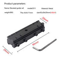 11mm Refile Scope Base to 20mm Rail Weaver Picatinny Mount Adapter Converter