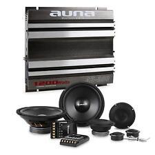 Auna Cs-comp-8 Set hifi Tuning Voiture Kit Enceintes & Amplificateur 2 canaux