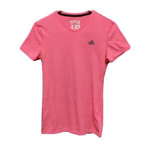 Adidas (Women's Size S) Ultimate Tee Short Sleeve Pink Shirt