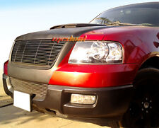 Fit 03-06 Ford Expedition 2PC Combo Horizontal Billet Black Grille Grill Insert