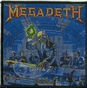 MEGADETH rust in peace 2020 WOVEN SEW ON PATCH official merchandise
