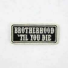 Biker Chopper Moto Brotherhood til you la frase pin spilla spilla