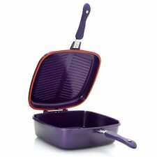 Cook's Companion Ceramic 5 qt UniVersa II Flip Pan w/ Basting Lid Plum