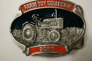 2001 Farm Toy Collector Pewter Buckle, 10th in Series #121/500-Model B Allis