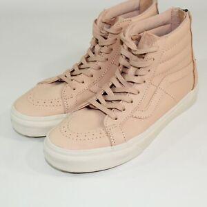 Vans Sk8-Hi Pro Leather Skate Shoes Peach Men's Size 6 Women's Size 7.5