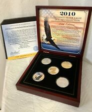 2010 Ultimate Silver Eagle Dollar Collection by Franklin Mint w/ Display  125