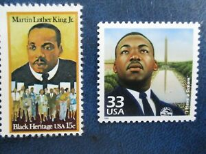 MARTIN LUTHER KING STAMPS  #1771 & 3188a