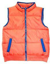 NWOT GYMBOREE Boy Orange Blue Quilted Vest Sz. 4T - 5T     NC1