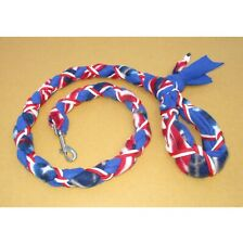 New listing Handmade Dog Leash Fleece and Paracord w Clasp Us Flag over Blue w White/Red