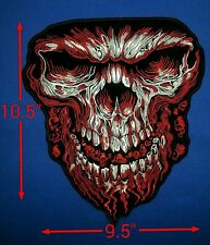 """Giant Skull """"RED'' 10.5'' by 9.5''"""
