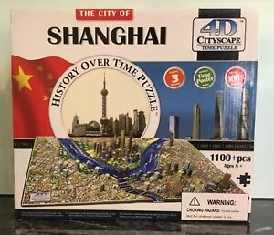 SHANGHAI 4D Cityscape Puzzle.1100+pieces.Used once & in VGC.No missing pieces.