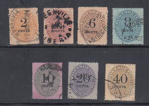 Liberia # J3-9 USED Complete 1893 Postage Dues