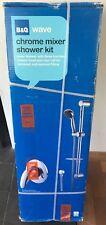 B&Q Onda-Cromo Kit de Ducha Mezclador, Mezclador de Ducha con 3 FUNCIONES, Nuevo