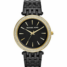 Michael Kors 'Darci' Crystal Bezel Black Lon-plated Bracelet Womens Watch MK3322