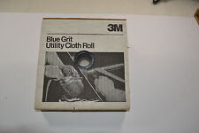 """New 3M 500 Grit BLUE Knife Makers  Utility Cloth Shop Roll 1""""x50 Yds (WR.13b.A.7"""